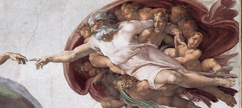 Creation of Adam close-up of womb